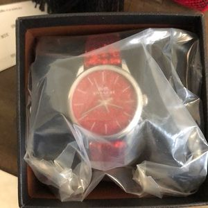 NWT COACH RED SPARKLY WATCH